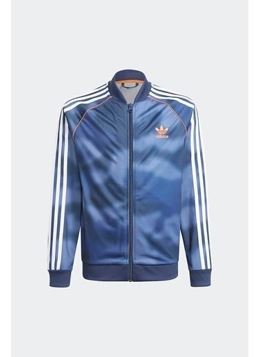 adidas Adidas Erkek Çocuk Günlük Eşofman Üstü Sst Top Gn4128 Mavi